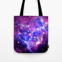 galaxy Tote Bags featuring Galaxy. by Matt Borchert