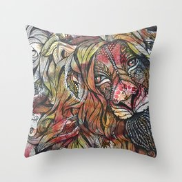 Fortitude (lion mandala) Throw Pillow