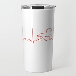 HORSE HEARTBEAT Travel Mug