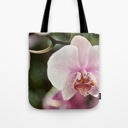 Green Pink Orchid Tote Bag