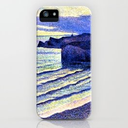 French Coastal Scene by Maximilien Luce iPhone Case