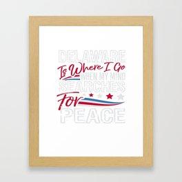 Delaware American Patriotic Memorial Day Framed Art Print