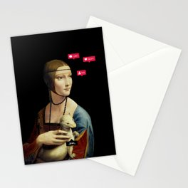 The Lady with an Ermine Influencer Stationery Cards