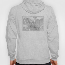 Vintage Mexico Railroad Map (1881) BW Hoody