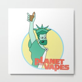 Planet of the Vapes (a Planet of the Apes parody) Metal Print