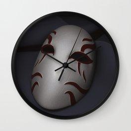 Kabuki Mask Wall Clock