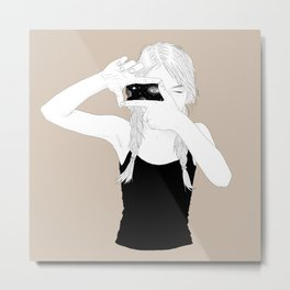 Universe in her eyes Metal Print