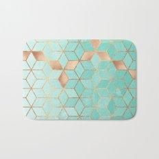 Soft Gradient Aquamarine Bath Mat