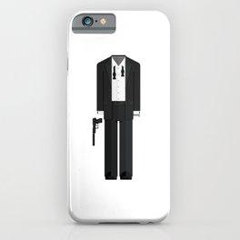 Fictional British Secret Service Agent - Casino Mission Minimal Sticker iPhone Case