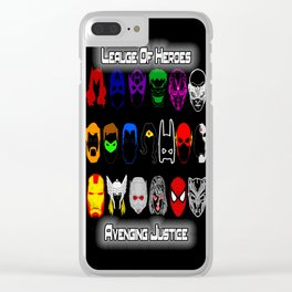 Avenging Justicee Clear iPhone Case
