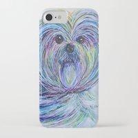 shih tzu iPhone & iPod Cases featuring Purse Pup - Shih Tsu by EloiseArt