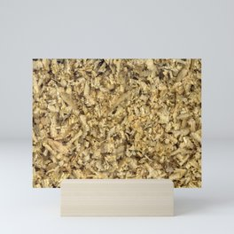 Texture and background from coniferous wood shavings Mini Art Print