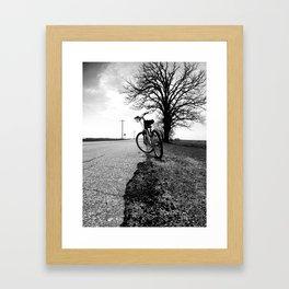 Biking with a Wise Oak Framed Art Print