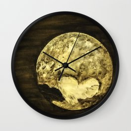 Universal Love from Pluto Wall Clock