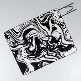 Liquid Marble B&W 028 Picnic Blanket