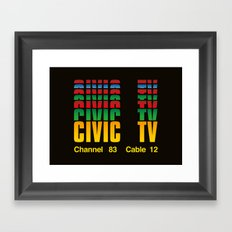 CIVIC TV Framed Art Print