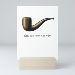 This Is Not A Pipe, Ceci n'est pas une pipe, Magritte Inspired T Shirt, Sketch, online T-shirt S Mini Art Print