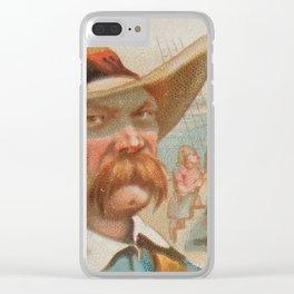 Vintage Charles Vane Pirate Portrait Illustration (1888) Clear iPhone Case