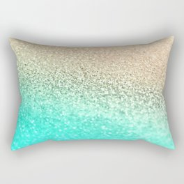 GOLD AQUA Rectangular Pillow