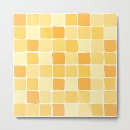 Modern Square Tiles - Sunshine Palette Metal Print
