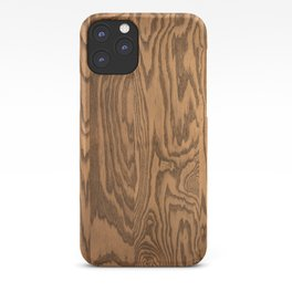 Wood 5, heavily grained wood grain iPhone Case