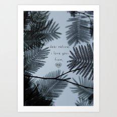 Dear Nature Art Print