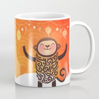 monkey island Mugs featuring Monkey by Anna Alekseeva kostolom3000