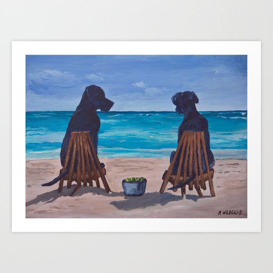The Perfect Beach Day Art Print