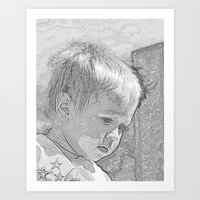 Contemplative Art Print