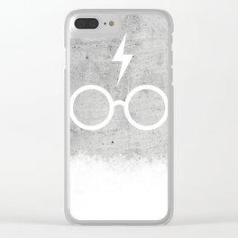 Harry P Concrete Clear iPhone Case