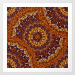 Color Me Autumn Kaleidoscope Mandala  Art Print
