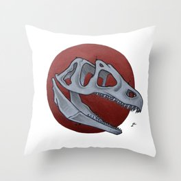 Copper T-rex Throw Pillow