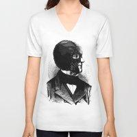 bdsm V-neck T-shirts featuring BDSM IX by DIVIDUS