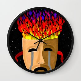 The Color of Tragedy Wall Clock