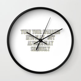 The Fighter's Sparring Tshirt Design Play seriously Wall Clock