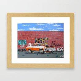 respect the Chevy Nova 2  Framed Art Print