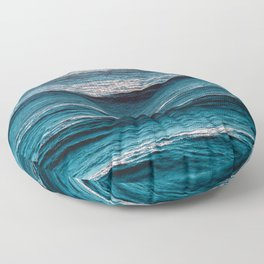 Blue Summer - Ocean Beach Landscape Floor Pillow