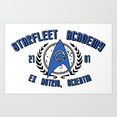 Star Trek - Starfleet Academy - Science Art Print
