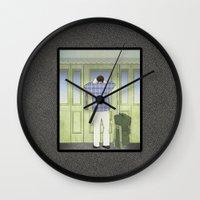 military Wall Clocks featuring Military Homecoming by Aquamarine Studio