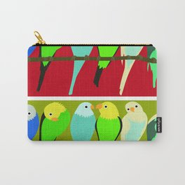 Parrots red and green Carry-All Pouch