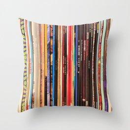Indie Rock Vinyl Records Throw Pillow