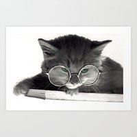 Smart Kitty Art Print