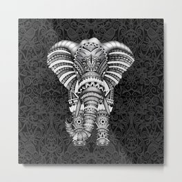 elephant with aztec pattern Metal Print