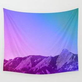 Boulder Colorado Flatirons Decor \\ Chautauqua Park Purple Pink Blue Green Nature Bohemian Style Art Wall Tapestry