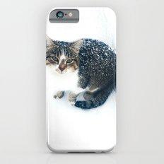 snowy cat iPhone 6s Slim Case