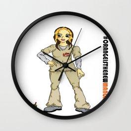 #Orange is the new Manga - Daya Diaz Wall Clock