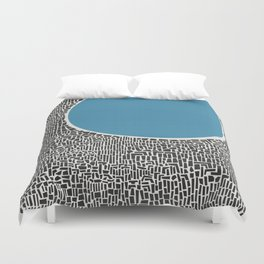 Abstract Blue Lake Duvet Cover