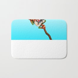 Tree Frog Playing Acoustic Guitar with Flag of South Korea Bath Mat