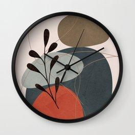 Abstract Elements 15 Wall Clock