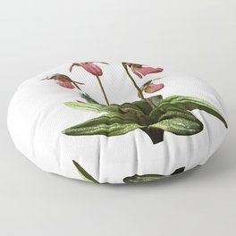 Pink Lady's Slippers Floor Pillow
